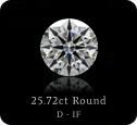 25.72ct Round D-IF GIA certificate.